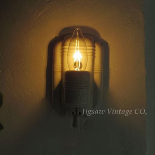 アンティーク 陶器 の ブラケット ライト (E26) (3)