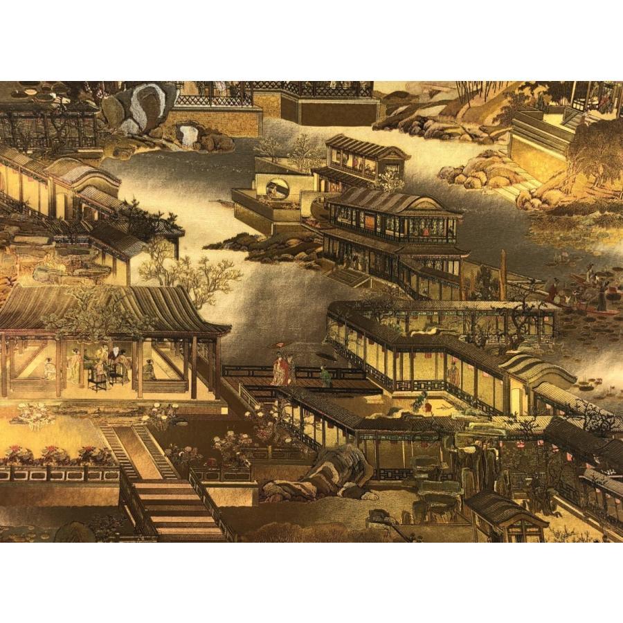 送料無料 中国風壁紙クロス 清明上河図 シャンパンゴールド色 E50082 E50082 実験工房 通販 Yahoo ショッピング