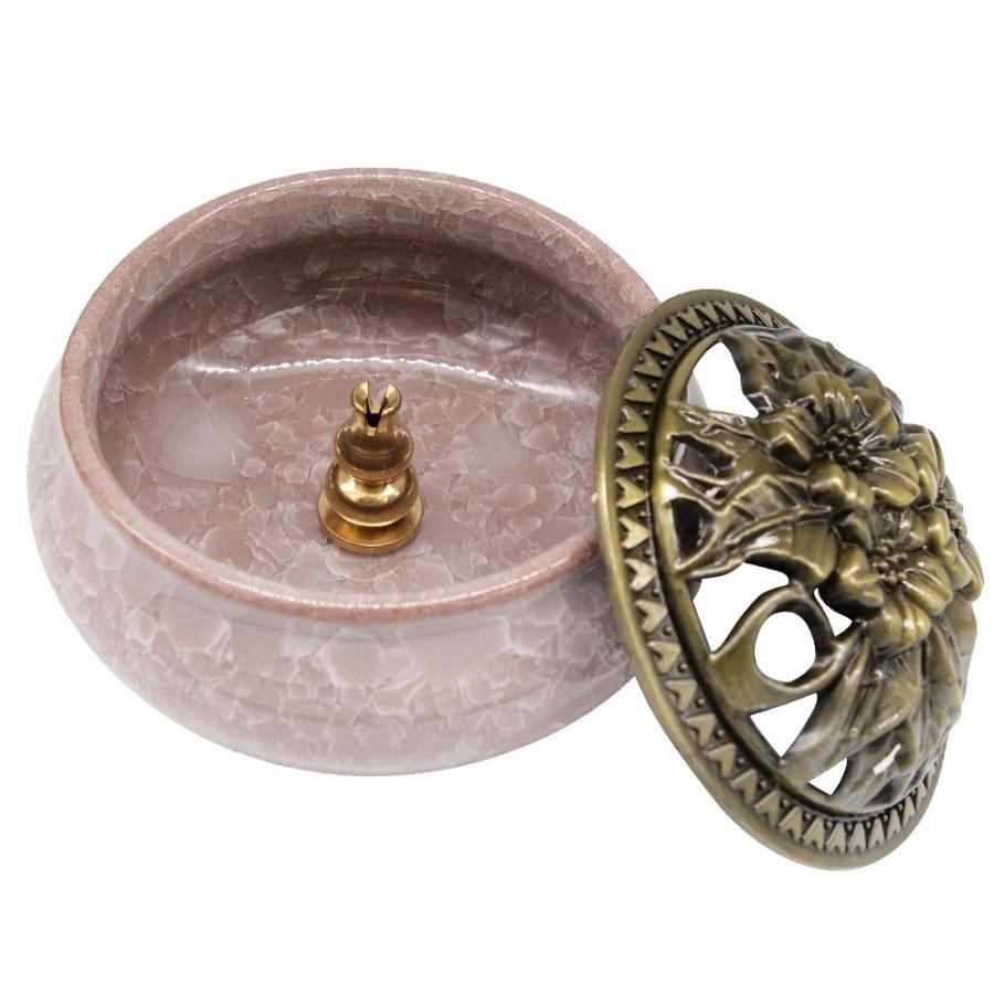 陶器 香炉 お香 立て付 直径9.5cm アロマ 陶磁器|jiko|13