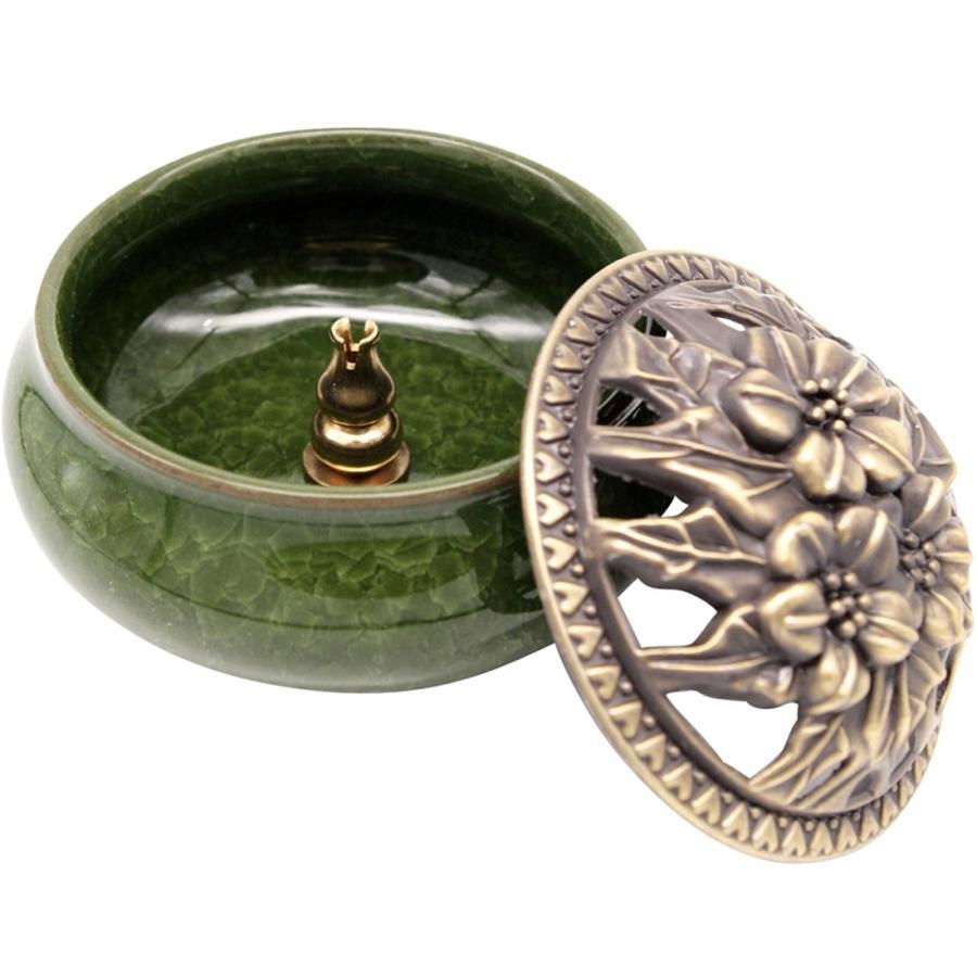 陶器 香炉 お香 立て付 直径9.5cm アロマ 陶磁器|jiko|08