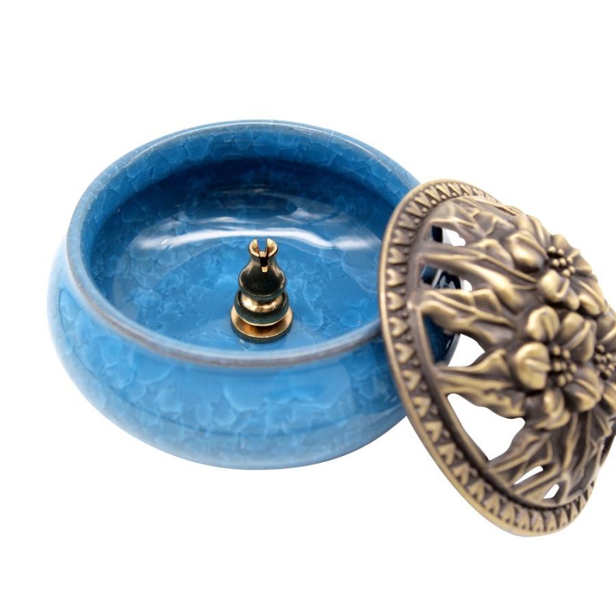 陶器 香炉 お香 立て付 直径9.5cm アロマ 陶磁器|jiko|10