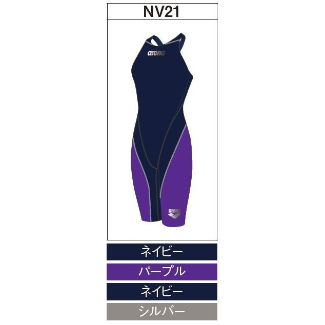 アリーナ カスタムオーダー受注生産 競泳スイムウエア(レディス)FINA承認モデル OAR7010WN-NV21 ベースカラー:ネイビー