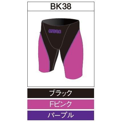 アリーナ カスタムオーダー受注生産 競泳スイムウエア(メンズ)FINA承認モデル OAR7011MN-BK38 ベースカラー:ブラック