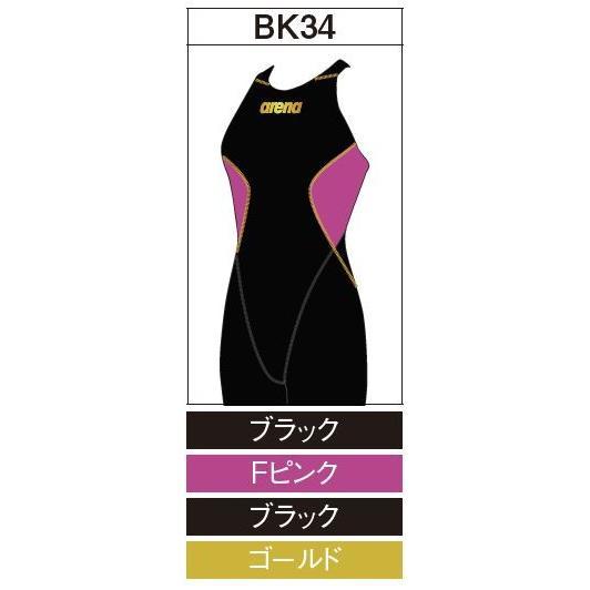 アリーナ カスタムオーダー受注生産 競泳スイムウエア(レディス)FINA承認モデル OAR7020WN-BK34 ベースカラー:ブラック