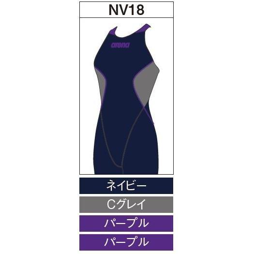 アリーナ カスタムオーダー受注生産 競泳スイムウエア(レディス)FINA承認モデル OAR7020WN-NV18 ベースカラー:ネイビー