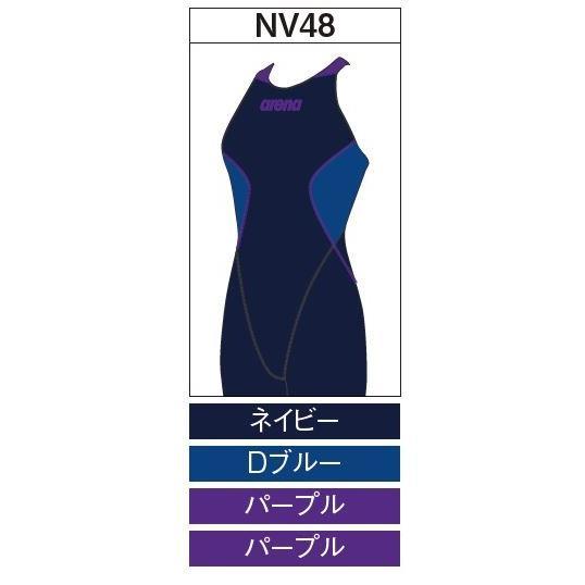 アリーナ カスタムオーダー受注生産 競泳スイムウエア(レディス)FINA承認モデル OAR7020WN-NV48 ベースカラー:ネイビー