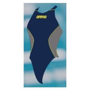 アリーナ カスタムオーダー受注生産 競泳スイムウエア(レディス)FINA承認モデル OAR7021WN-NV13 ベースカラー:ネイビー