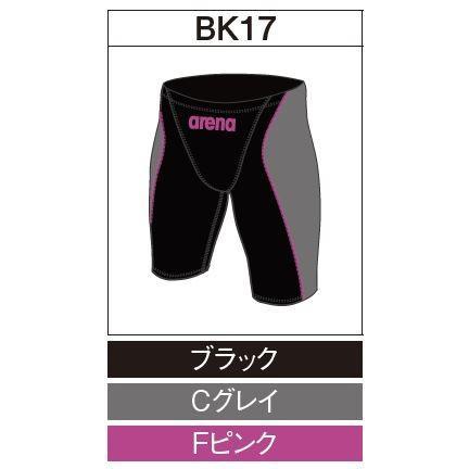 アリーナ カスタムオーダー受注生産 競泳スイムウエア(メンズ)FINA承認モデル OAR7022MN-BK17 ベースカラー:ブラック
