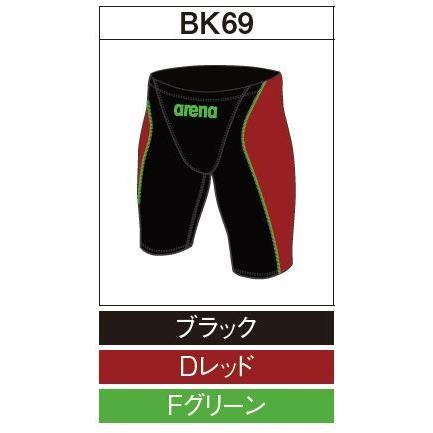 アリーナ カスタムオーダー受注生産 競泳スイムウエア(メンズ)FINA承認モデル OAR7022MN-BK69 ベースカラー:ブラック