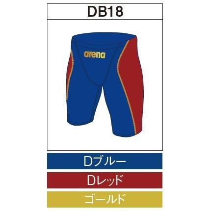 アリーナ カスタムオーダー受注生産 競泳スイムウエア(メンズ)FINA承認モデル OAR7022MN-DB18 ベースカラー:Dブルー