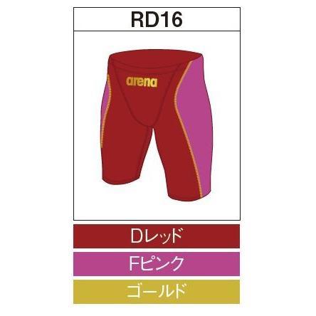 アリーナ カスタムオーダー受注生産 競泳スイムウエア(メンズ)FINA承認モデル OAR7022MN-RD16 ベースカラー:Dレッド