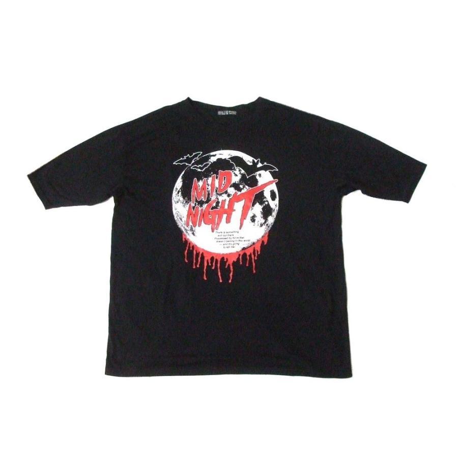 HELL CAT PUNKS ヘルキャットパンクス ビッグシルエットミッドナイト Tシャツ|jimushop