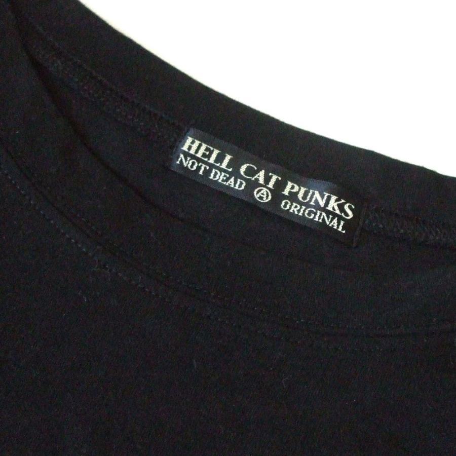 HELL CAT PUNKS ヘルキャットパンクス ビッグシルエットミッドナイト Tシャツ|jimushop|03