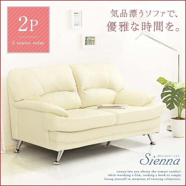 ボリュームソファ2P Sienna-シエナ- ボリューム感 高級感 デザイン 2人掛け