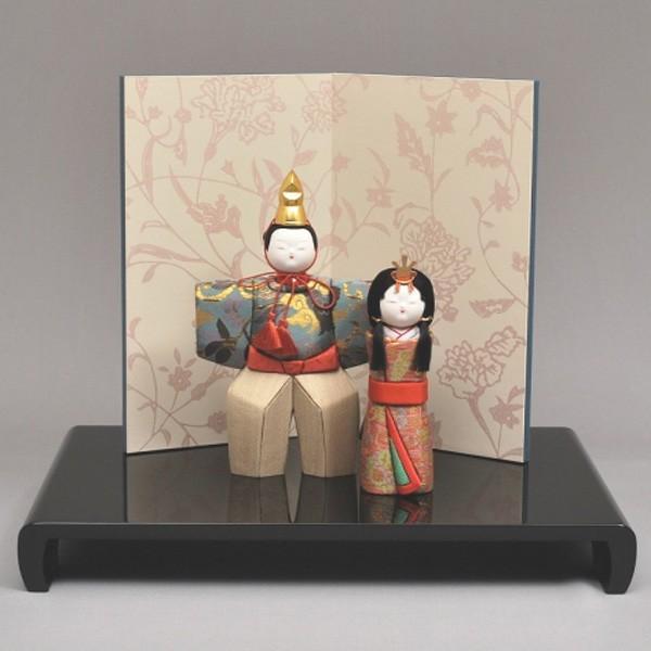 雛人形/ひな人形 幸一光 木目込み 瑠璃立雛4161