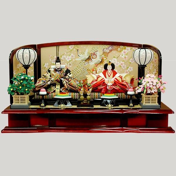 【T-ポイント5倍】 雛人形 親王飾り 平飾り-季節玩具