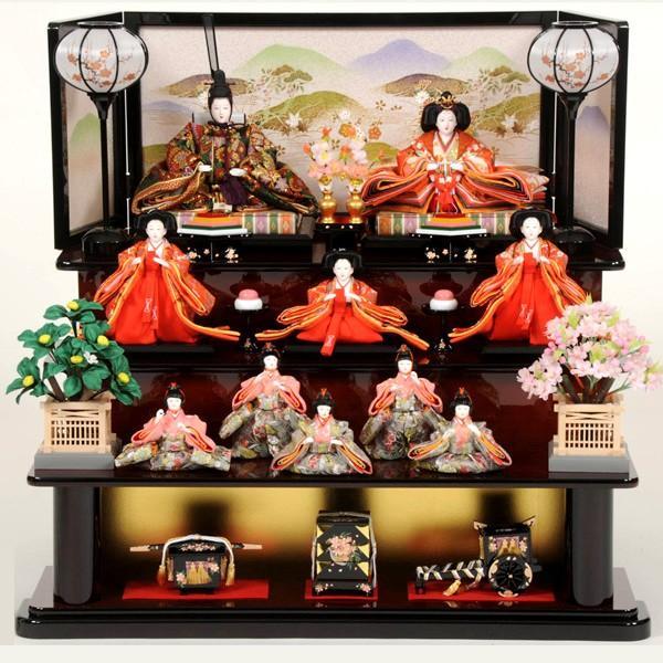 【信頼】 三段飾り 10人飾り 雛人形 ひな人形 43t-季節玩具