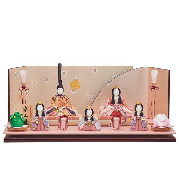 雛人形 木目込み 一秀 ひな人形 五人飾り 平飾り