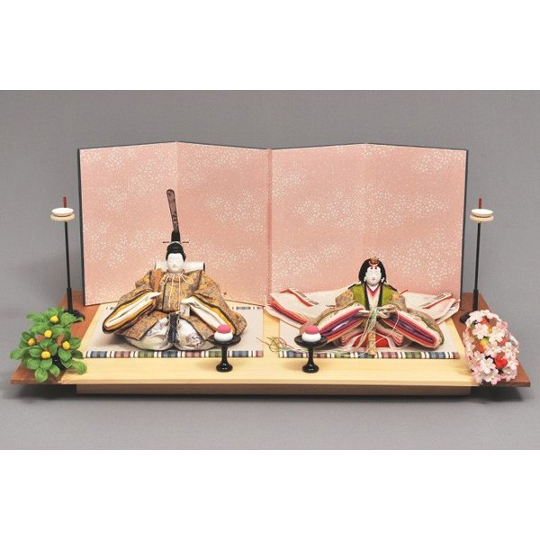 雛人形 ひな人形 幸一光 衣装着 花の宴親王飾り台付書き目1375