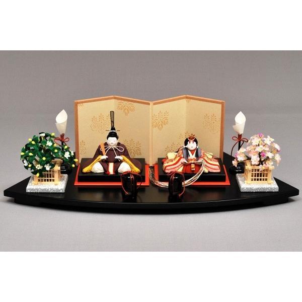 雛人形/ひな人形 幸一光 木目込み ひいな扇面台親王飾り8002