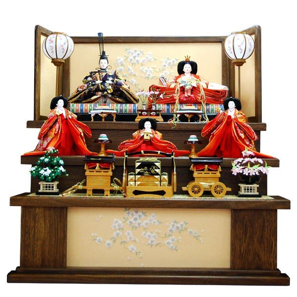 ひな人形 3段飾り 雛人形 お雛様 5人 三段五人飾り 格安 小さい 人気 ひな祭り 12-3b-30-3-ha