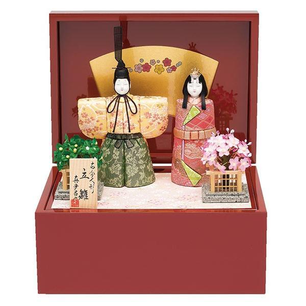 雛人形 真多呂 木目込み ひな人形 春桜雛セット 立雛 平飾り 親王飾り