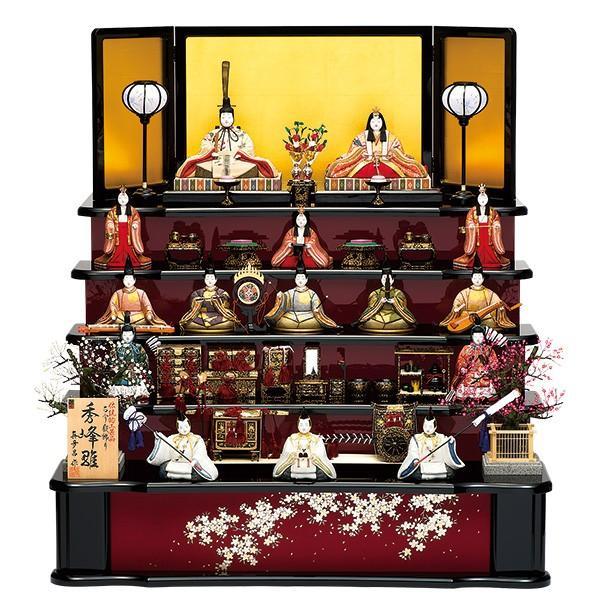 雛人形 真多呂 木目込み ひな人形 秀峰雛セット 15人飾り 十五人飾り 5段飾り 五段飾り