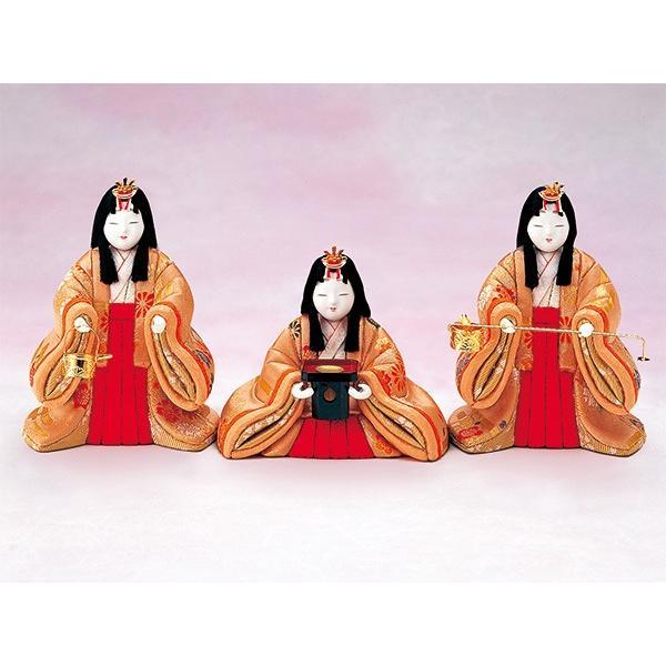 雛人形 真多呂 木目込み ひな人形 瑞祥 三人官女 単品