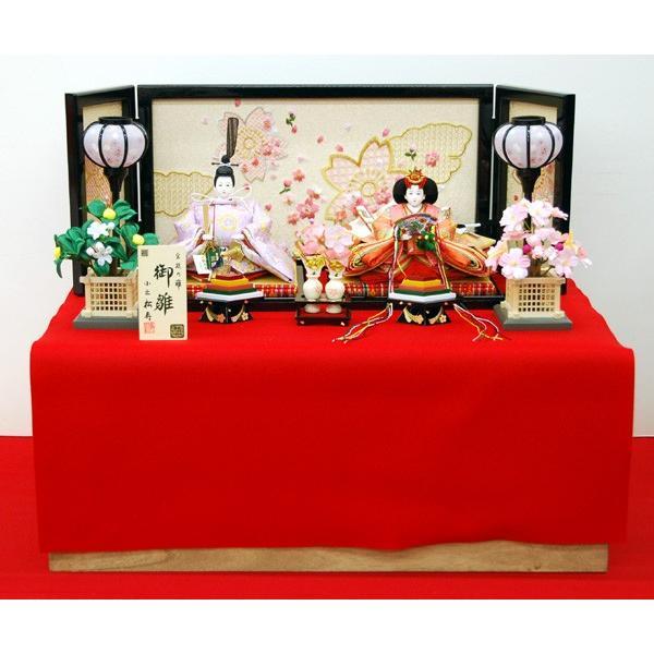 雛人形 小出 松寿作 収納飾り ひな人形 お雛様 コンパクト ミニ 43t