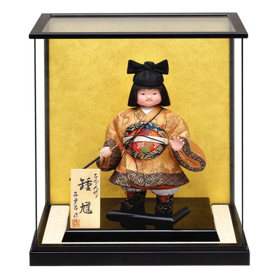 五月人形 真多呂人形作 木目込み 大将飾り 子供大将 ケース飾り 童鍾馗ケース付入り 3503