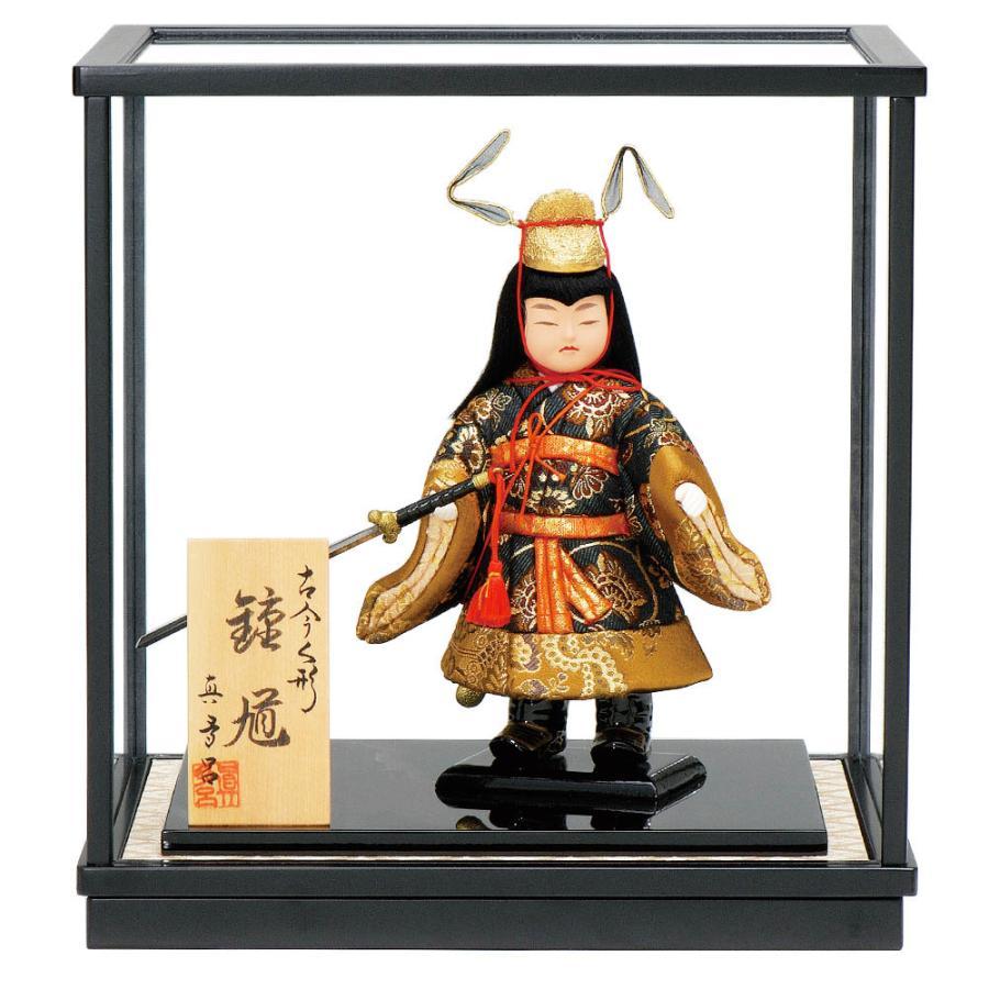五月人形 真多呂人形作 木目込み ケース飾り 鍾馗ケース付き 3507