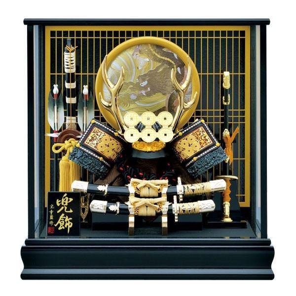 五月人形 ケース飾り 真田幸村 兜飾り 12号 コンパクト ミニ 小さい 5月人形