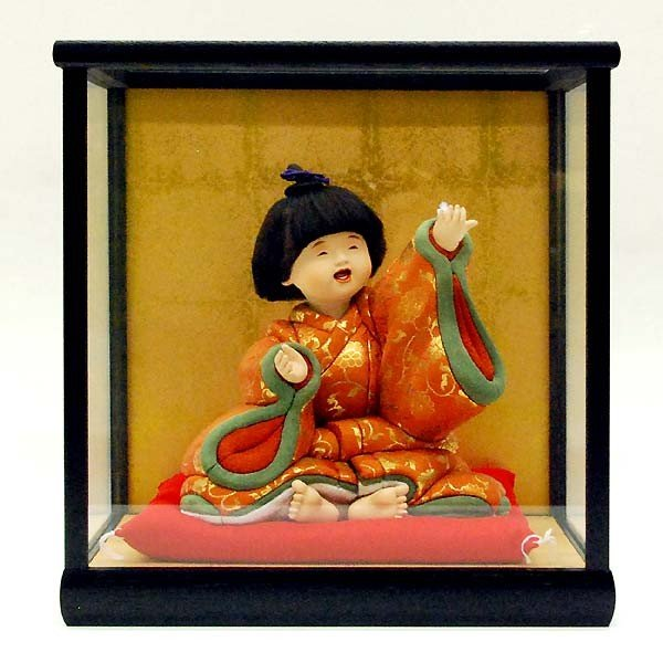 五月人形 童人形 子供人形 日本人形 木目込人形 無我 ケース入り