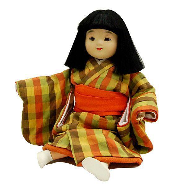 日本人形 11号 抱き人形 木胴 女の子 訳あり品 倉庫管理品