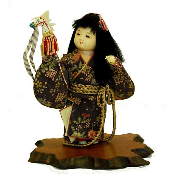 日本人形 童人形 春駒 訳あり品 倉庫管理品