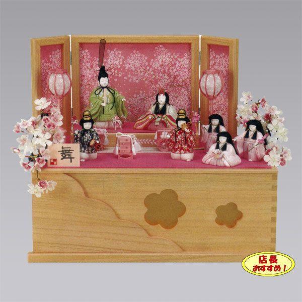 お手頃価格 ひな人形 雛人形 7人飾り ひな人形七人 桃の節句 ひな祭り 歴女 お雛様-季節玩具