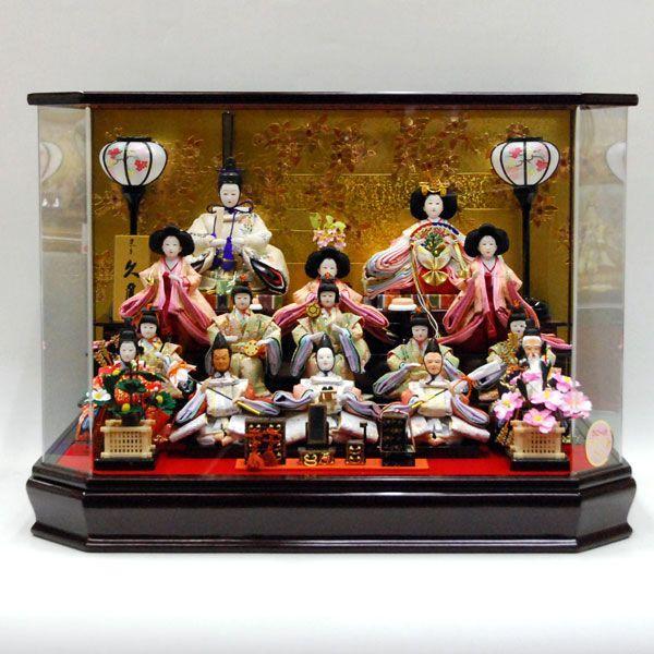 爆買い! 久月 ケース飾り 15人飾り 雛人形-季節玩具