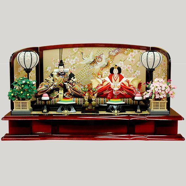 新作商品 雛人形 親王飾り 平飾り-季節玩具