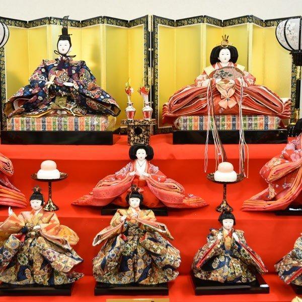 雛人形 久月 7段飾り ひな人形 初節句飾り 七段飾り 15人飾り お祝|jinya|08