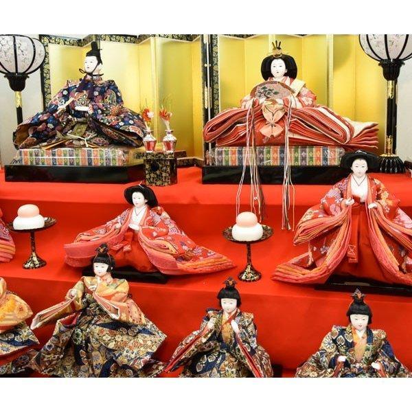雛人形 久月 7段飾り ひな人形 初節句飾り 七段飾り 15人飾り お祝|jinya|09