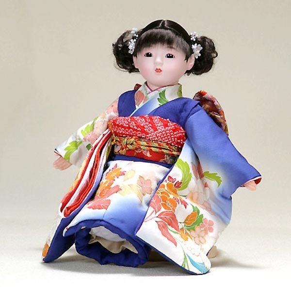 市松人形 抱き人形 13号 いちまつ人形 13号瞳h627