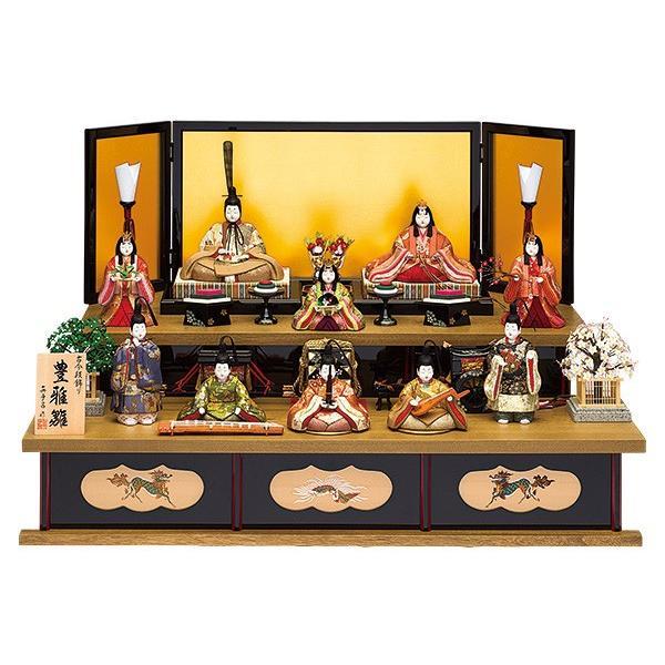 雛人形 真多呂 木目込み ひな人形 豊雅雛セット 10人 十人飾り 二段飾り