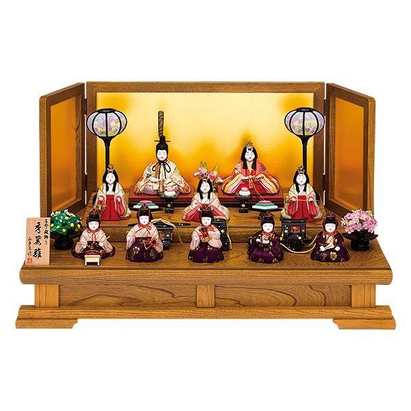 雛人形 真多呂 木目込み ひな人形 秀麗雛セット 10人 十人飾り 二段飾り