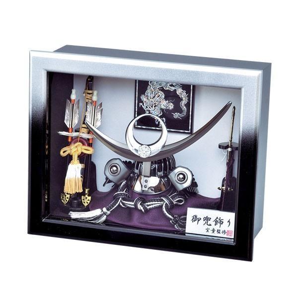五月人形 ケース飾り 兜飾り ケース入り 8号 上杉謙信 兜額入飾り kabuto-49 5月人形