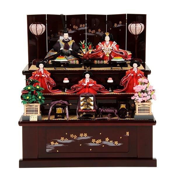【楽天最安値に挑戦】 三段飾り 五人飾り ひな人形 収納飾り 雛人形-記念、行事用品