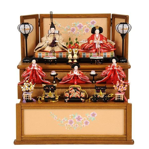セール 登場から人気沸騰 雛人形 ひな人形 三段飾り 五人飾り 収納飾り-記念、行事用品