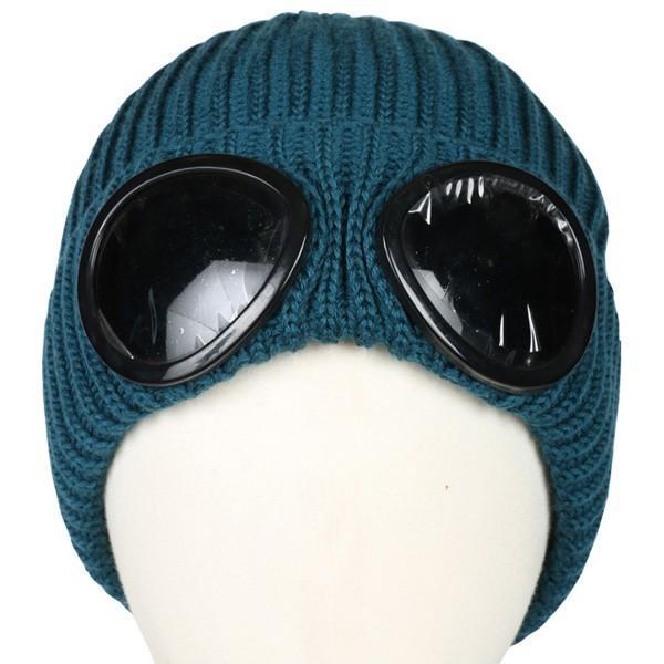 C.P.COMPANY シーピーカンパニー ニットキャップ ビーニー帽 16WCPUA05261 870 OSEAN 青