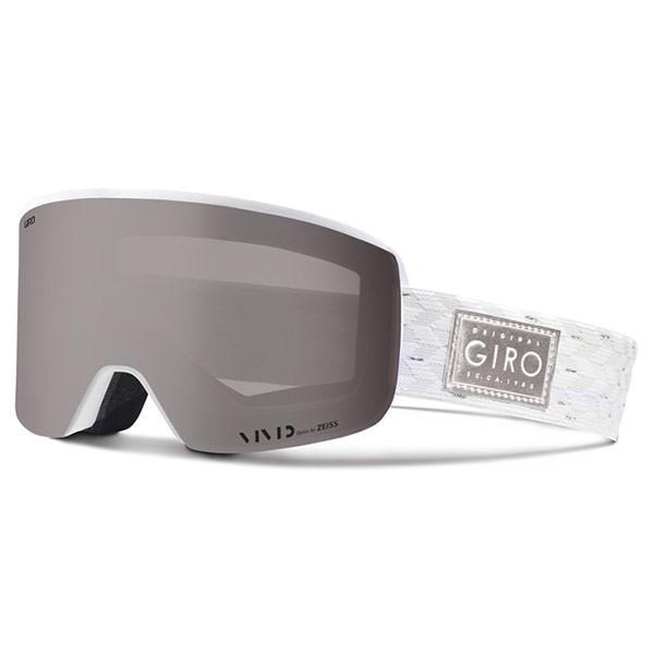 GIRO ジロ ELLA 白い 銀 SHIMMER スノー ゴーグル アジアンフィット