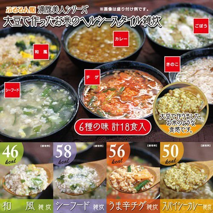 ぷるるん姫 満腹美人 食べるバランスDIET ヘルシースタイル雑炊  6種類18食セット|jirums