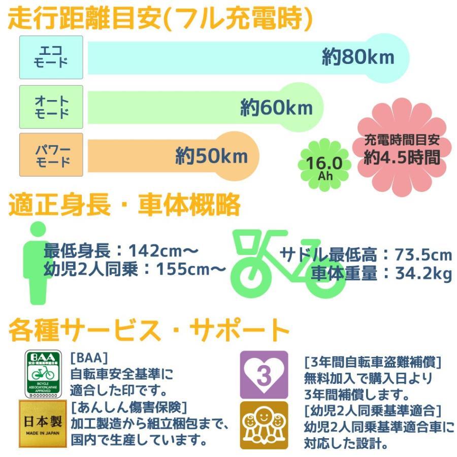 電動アシスト自転車 完全組立 ギュットアニーズDX パナソニック 20インチ 3段変速 後ろチャイルドシート付き BE-ELAD032|jitensha-box|05